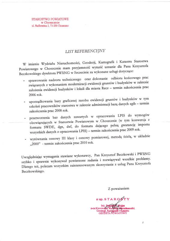 referencje starostwo choszczczno Referencje Starostwo Police