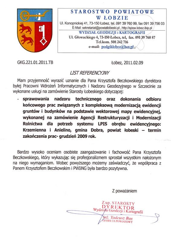 referencje starostwo lobza Referencje Starostwo Police