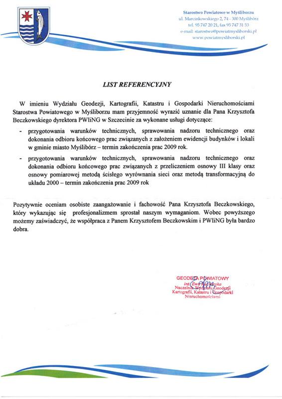referencje starostwo mysliborz Referencje Starostwo Police